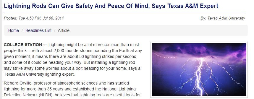 lighting rods can give safety and peace of mind says texas am expert