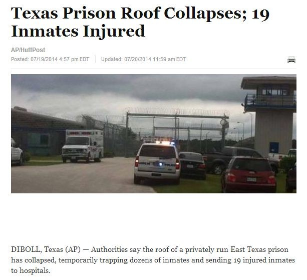 texas prison roof collapses